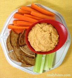 Emily Bites - Weight Watchers Friendly Recipes: Buffalo Wing Hummus  2 points+