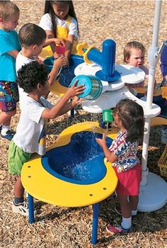 Splash Circuit Sand & Water Station - Elevated Table with Moveable Valves - Landscape Structures