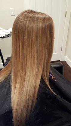 Honey blonde. Golden blonde. Natural color. Balyage. Ombre. Babylights