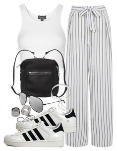 """Untitled #774"" by jennifer1927 ❤ liked on Polyvore featuring Oasis, adidas Originals, Topshop, Monki, Yves Saint Laurent, Monica Vinader and Pieces"