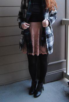 My new favorite #Forever21 plaid coat! { full blog post at stripedflats.com }