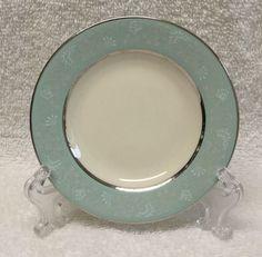 "Castleton China CORSAGE Coaster 4-1/4"" trinket plate dish small Blue/Floral EUC #Castleton"