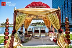like the chairs and decorative stackable mandap decorations on the side
