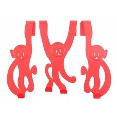 Monkey door hangers, great for kids rooms and no drilling as they just hook over the door!  Each monkey measures H21cm x W8cm  £9.99 for a set of 3.