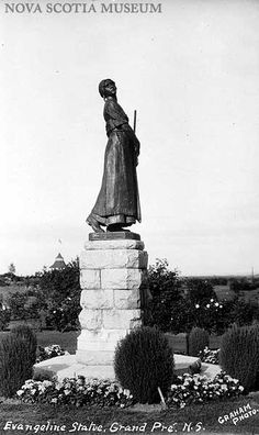 Evangeline Statue, Grand Pre, Novia Scotia Acadie, Prince, Atlantic Canada, New Brunswick, Nova Scotia, Statues, Statue Of Liberty, Places Ive Been, Beautiful Places