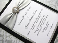 Silver and black wedding invitations << very cute