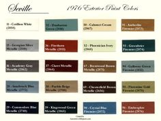 1976 cadillac seville | 1976 Cadillac Seville exterior paint color codes, formulas, and sales ...