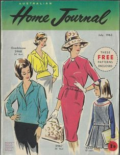 Australian Homes, Vintage Sewing Patterns, Magazines, Free Pattern, Journal, Knitting, Craft, Cover, Journals