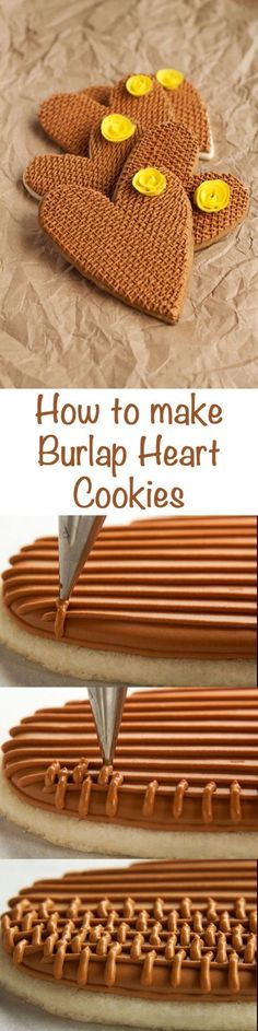 How to make Simple Burlap Rose Cookies via www.thebearfootbaker.com