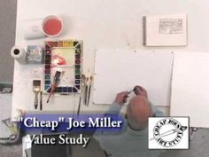 """""""Value Study To Watercolor"""" Welcome to Cheap Joe's Test Studio! Hi, I'm Joe and I'm back again. I'd like to show you today how I transfer a sketch from my value study book to the watercolor paper in preparation for doing a watercolor... #ArtVideo #ArtInstruction #ArtLessons"""