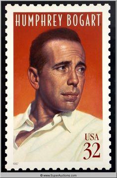 Humphrey Bogart Postage Stamp Picture
