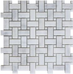 White Thassos and Carrara White Marble Waterjet Mosaic Tile in Princess Weave – Marble Bathroom Dreams Marble Bathroom Floor, White Marble Bathrooms, Tile Floor, Master Bathroom, Stone Mosaic Tile, Marble Mosaic, Mosaic Glass, Fireplace Facade, Tile Crafts