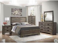Rustic Grey Bedroom, Grey Bedroom Set, Modern Grey Bedroom, Gray Bedroom Walls, Wood Bedroom Sets, Bedroom Ideas Grey, Grey Wood Furniture, Grey Bedroom Furniture, Home Decor Bedroom