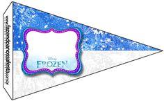 Bandeirinha Sanduiche Frozen Azul e Branco: