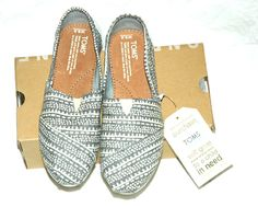 TOMS Women's Classic Light Grey Printed Wool Size 6.5 #TOMS #LoafersMoccasins #CasualFootwear