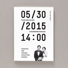 Modern Wedding Invitation Design from Korea