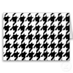 Select Your Color Houndstooth Pattern Cards