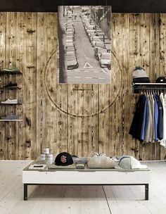 Retail Space - Nice use of wood Retail Store Design, Retail Shop, Shop Interior Design, Interior Design Inspiration, Public Space Design, Public Spaces, Retail Merchandising, Merchandising Ideas, Concept Shop