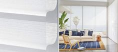 "Our Nantucket™ shadings offer a streamlined selection of operating systems and soft sheers. Both stylish and sensibly priced, these shadings feature 3"" vanes that tilt for effective light control."
