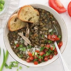 Chicken and lentil soup is a family favorite!