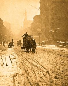 Winter on 5th Avenue, NYC, Alfred Stieglitz.