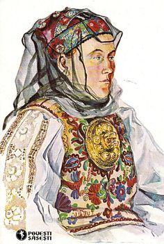 broderie saseasca - Google zoeken Leather Embroidery, Folklore, Princess Zelda, Costume, Fictional Characters, Europe, Art, Germany, Bohemia
