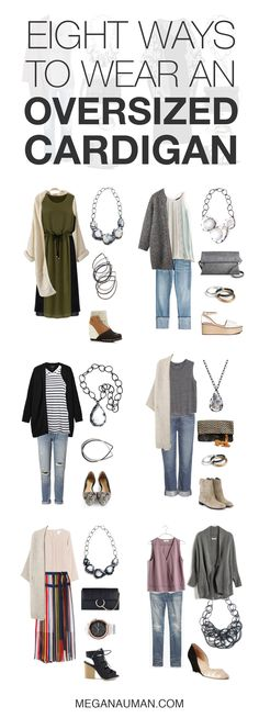 how to wear an oversized chunky cardigan: eight outfit ideas to try