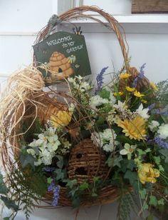 Large spring beehive basket