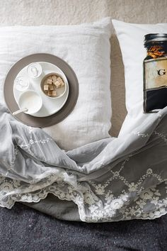 Find beautiful lace overlay for bedspread