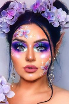, 43 Fantasy Makeup Ideas To Learn What It's Like To Be In The Spotlight Lila Fee. , 43 Fantasy Makeup Ideas To Learn What It's Like To Be In The Spotlight Lila Fee Make-up-Idee ★ In unserer Galerie finden Sie . Crazy Makeup, Cute Makeup, Makeup Art, Makeup Ideas, Media Makeup, Awesome Makeup, Elf Makeup, Makeup Guide, Fantasy Make Up