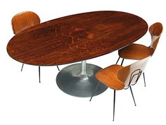 1960's Rosewood Arkana Oval Dining Table