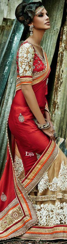 ♔LAYA♔.❋*✿SAREES.✿*❋.♔ Pakistani Couture, Pakistani Bridal, Indian Bridal, India Fashion, Ethnic Fashion, Asian Fashion, Pakistan Fashion, Indian Dresses, Indian Outfits