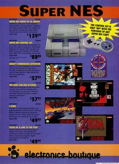 SNES vintage ad. Yup, 140 clams for an SNES back in the day.