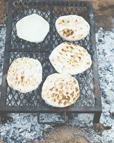 Home made tortillas the Navajo way.  Open flame with a rack of grilled ribs and chest meat!!  OMG make my mouth water!!!