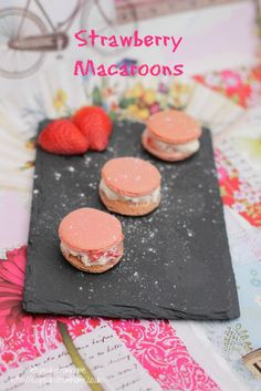 Strawberry Macaroons - ET Speaks From Home
