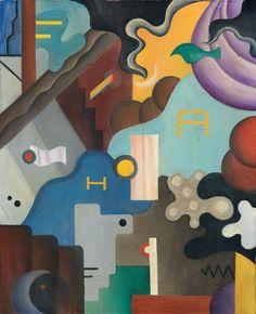 Julius Evola (Italian, 1898-1974), Composizione futurista
