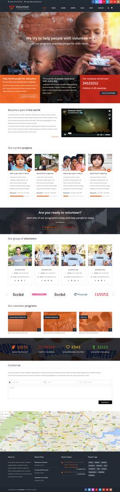 Download over 60 of the Best Charity Website Templates for 2017 ...