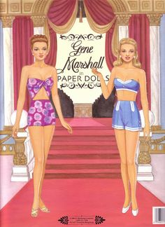 Gene Marshall Paper Dolls (GM is a fictional movie star and real-life collectable fashion doll.)