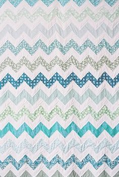 Chevron quilt--not using triangles
