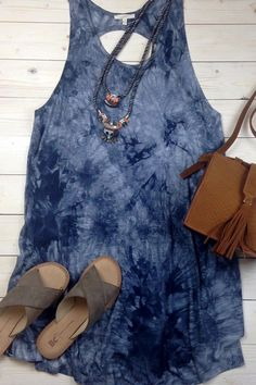 Twisted Back Tie Dye Tunic