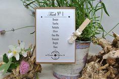 Hochzeitsdeko - Tischordnung Karte VINTAGE WEDDING Hochzeit - ein Designerstück von Papierwiese bei DaWanda