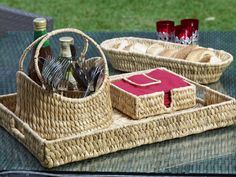Natural Entertainer! The Oasis Eco BBQ collection has been handmade from Water Hyacinth, which grows profusely & is specifically farmed for manufacture.