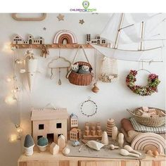 How beautiful is this whimsical and creative nursery and playroom by featuring our Olli Ella MInichari and Holdie House olliella luggy holdiehouse minichari girlsbedroom Nursery pla is par -