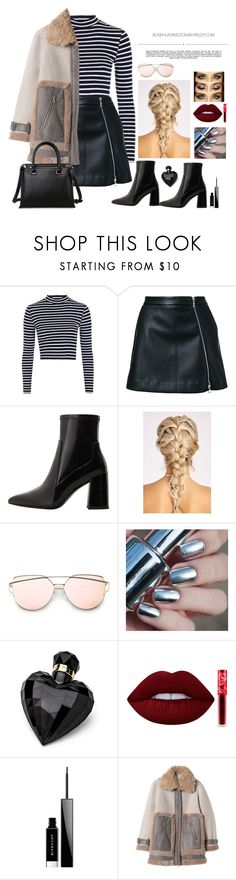 """Work hard to shopp harder"" by youngsmile on Polyvore featuring Topshop, Guild Prime, MANGO, Lipsy, Lime Crime, Givenchy, Rebecca Taylor and Whiteley"