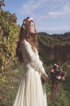 Inspiration: Un matrimonio bohémien in vigna | Wedding Wonderland. Allestimento Floreale realizzato da Petali e Sogni www.petaliesogni.com