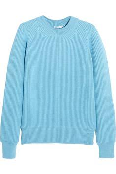 Sky-blue wool Slips on 100% wool Dry clean Designer color: Aqua