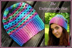 Crochet Supernova: The Unforgettable Hat ~FREE PATTERN~Uses one skein Red Heart Unforgettable.. Moss ༺✿ƬⱤღ https://www.pinterest.com/teretegui/✿༻