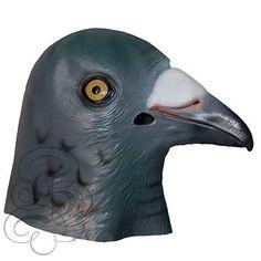 Latex Full Head Animal Bird Dove Dodo Parrot Pigeon Crow Masquerade Props Mask
