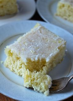 This Lemon Buttermilk Sheet Cake is so amazing! It melts in your mouth and has the most delicious crunchy topping that keeps you coming back for more. Let's talk about this cake. Lemon Desserts, Lemon Recipes, Köstliche Desserts, Cupcake Recipes, Cupcake Cakes, Dessert Recipes, Poke Cakes, Yummy Treats, Sweet Treats