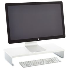 Take computer work to the next level with our clever Monitor Stand. It raises your monitor just enough to make viewing more comfortable. There's even room for storing your keyboard or paperwork underneath to keep a clean workspace
